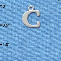 C2267 tlf - Large Initial -C - Silver Plated Charm (6 per package)