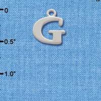C2271 tlf - Large Initial - G - Silver Plated Charm (6 per package)