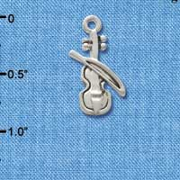 C2503+ - Violin - Silver Plated Charm (6 per package)