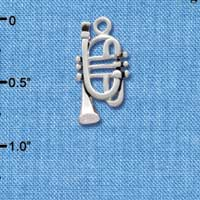 C2507+ - Trumpet - Silver Plated Charm (6 per package)