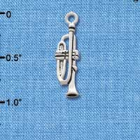 C2508 - Trombone - Silver Plated Charm (6 per package)