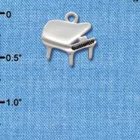 C2510 - Piano - Silver Plated Charm (6 per package)