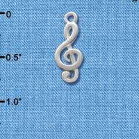 C2514 tlf - Silver Clef Note - Silver Plated Charm (6 per package)