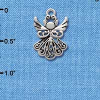 C2519 tlf - Silver Angel - Silver Plated Charm (6 per package)