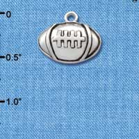 C2526 tlf - Large Silver Football - Silver Plated Charm (6 per package)