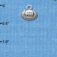 C2527 ctlf - Mini Silver Football - Silver Plated Charm (6 per package)