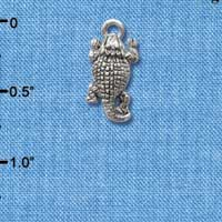 C2598 ctlf - Horn Toad - Silver Plated Charm (6 per package)