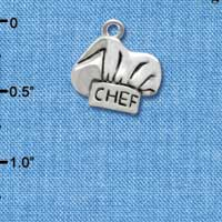 C2599 ctlf - Chef Hat - Silver Plated Charm (6 per package)