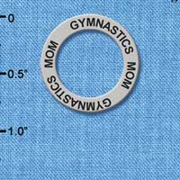 C3202 tlf - Gymnastics Mom - Affirmation Message Ring (6 per package)