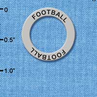 C3245 tlf - Football - Affirmation Message Ring (6 per package)