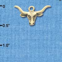 C3256 - Longhorn - Gold Plated Charm (6 per package)