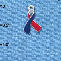 Red & Blue Awareness Ribbon