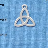 C3671 tlf - Large Silver Trinity Knot - Silver Plated Charm (6 per package)