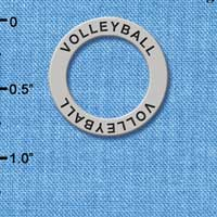 C3918+ tlf - Volleyball - Affirmation Message Ring (6 per package)