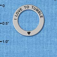 C3983 tlf - I love to Tumble - Affirmation Message Ring (6 per package)