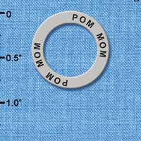 C3985 tlf - Pom Mom - Affirmation Message Ring (6 per package)
