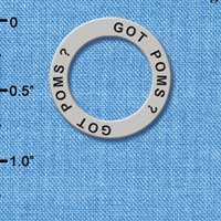 C3989 tlf - Got Poms? - Affirmation Message Ring (6 per package)