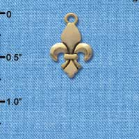 C4409 tlf - Fleur de Lis - Gold Plated Charm (6 per package)