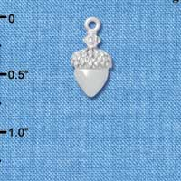 C4826+ tlf - Small Silver Acorn with Crystals - Silver Plated Charm (2 per package)