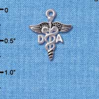C5004 tlf - Caduceus - DA - Silver Plated Charm (6 per package)