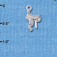 C5375+ tlf - English Saddle - Silver Plated Charm (6 per package)