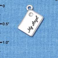 C5449+ tlf - My Angel Envelope - Silver Plated Charm (6 per package)