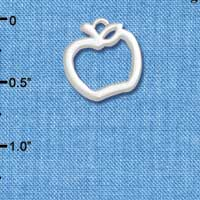 C5456+ tlf - Apple Outline - Silver Plated Charm (6 per package)