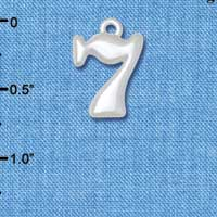 C5501 tlf - Medium Lucky 7 - Silver Plated Charm (6 per package)