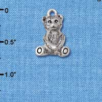 C5826+ tlf - Teddy Bear - 3-D - Silver Plated Charm (6 per package)