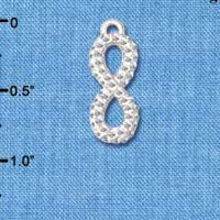 C5883 tlf - Crystal Infinity Sign - Silver Plated Charm (2 per package)