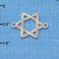 C5887+ tlf - Woven Star of David - Silver Plated Connector (2 per package)