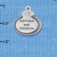 C5996+ tlf - Keep Calm and Cruise On - Silver Plated Charm (2 per package)