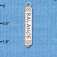 C6126+ tlf - Balance Bar - Silver Plated Charm (2 per package)