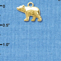 C6189+ tlf - 3-D Bear - Goldtone Plated Charm (6 per package)