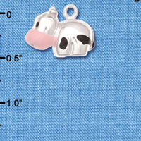 C6254+ tlf - Spotted Cow - Silver Plated Charm (2 per package)