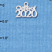 C6262 tlf - Class of 2020 - Silver Plated Charm (6 per package)