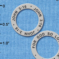 C6324+ tlf - John 3:16 - Affirmation Ring (6 per package)