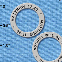 C6328+ tlf - Matthew 17:20 - Affirmation Ring (6 per package)