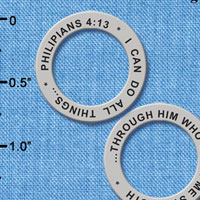 C6330+ tlf - Philippians 4:13 - Affirmation Ring (6 per package)