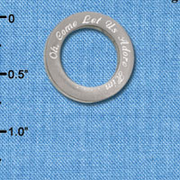 C6506-I tlf - Oh, Come Let Us Adore Him - Stainless Steel Affirmation Ring (2 per package)
