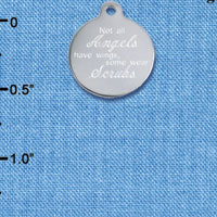 C6532 tlf - Engraved Some Angels Wear Scrubs - Stainless Steel Charm (2 per package)