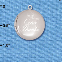 C6573-A tlf - In all Things Give Thanks - Silver Plated Locket (2 per package)