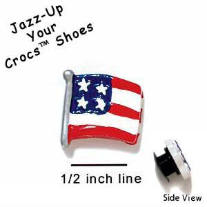 226f0ae9a Croc 2657 Tlf Usa Flag Mini Crocs Small Sup Tm. Crocband Clog