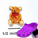 CROC-2653 - Bear Sitting Tie Red Mini - Crocs<SMALL><SUP>TM</SUP></SMALL> Decoration Charm (12 per package)