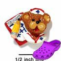 CROC-3668 - Nurse Bear Face Charm Small - Crocs<SMALL><SUP>TM</SUP></SMALL> Decoration Charm (12 per package)