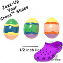 CROC-5131 - Easter Egg Assorted Mini - Crocs<SMALL><SUP>TM</SUP></SMALL> Decoration Charm (12 per package)