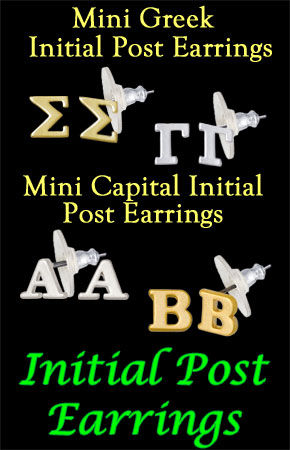 Mini Initial Earrings