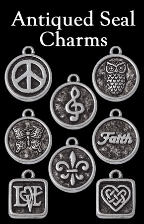 Antiqued Seal Charms