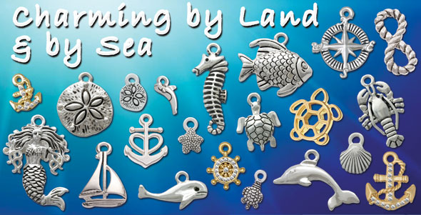 wholesale silver plated nautical charms