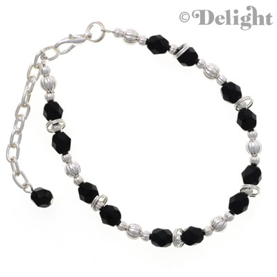 C2236 tlf - Beaded Bracelet - Black (3 per package)